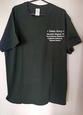 Swiss Army Green Mountain Brigade Recon tshirt size Large