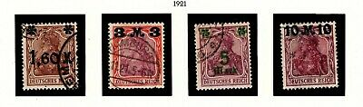 Item No. A6735 – Germany – Scott # 133-136 – Used