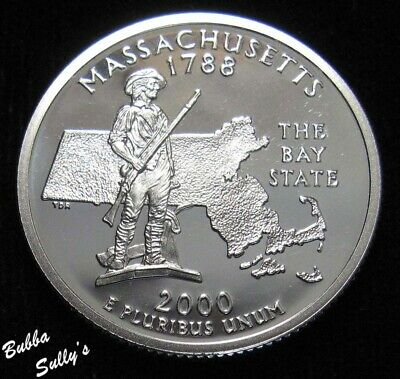 2000 S 90% Silver Statehood Quarter <> Massachusetts <> PROOF