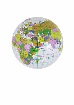 Inflatable-Blow Up Globe World Map Atlas Earth Education Geography 40Cm Toy Ball