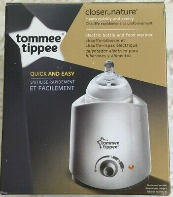 Tommee Tippee Closer to Nature Electric Bottle and Food Warmer White NEW