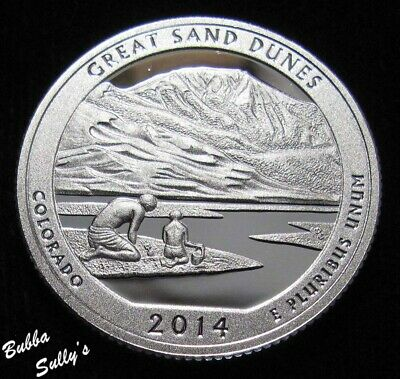 2014 S 90% Silver American the Beautiful Quarter <> Great Sand Dunes <>  PROOF