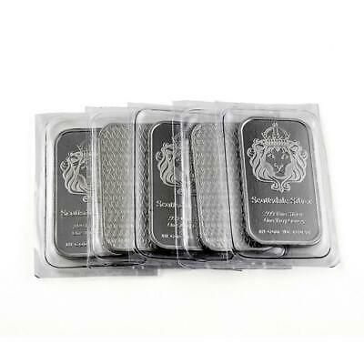 """5 x 1 oz """"The One"""" Silver Bar by Scottsdale Silver .999 Fine Silver #A393"""