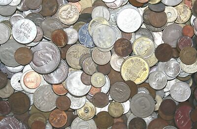 100x Mixed World Coins, 20th Century, Fine or Better Condition, No Scrap