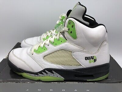 9268244d80a6 2011 Air Jordan V 5 Retro Quai 54 White Radiant Green 467827-105 Size 12