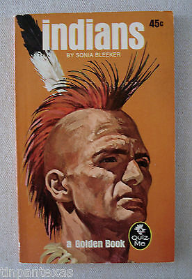 Indians by Sonia Bleeker A Golden Quiz-Me Book 1969 Illustrated Paperback