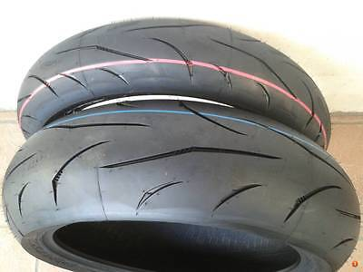 01 coppia gomme Moto Mitas Sport Force plus 120/70 zr 17  W+ 190/50 zr 17 W SAVA