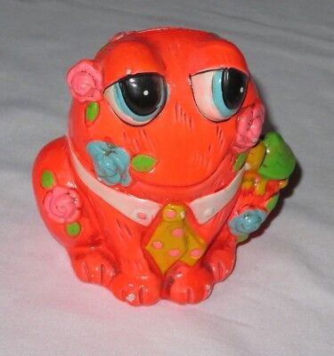 CHALKWARE BANK Vintage 60's Frog SNAIL HOLIDAY FAIR Psychedelic Mod Kitsch (p292