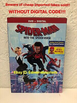 Spider-Man Into the Spider-Verse DVD 2019 (BEWARE OF FAKES W/O DIGITAL CODE!!)