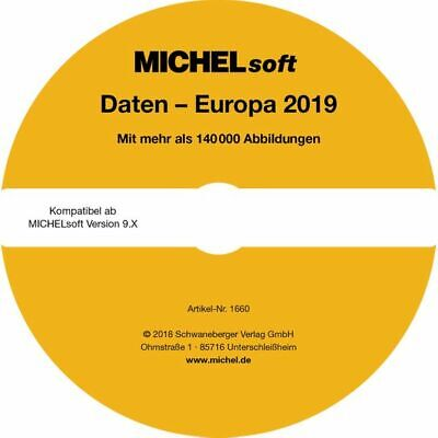 MICHEL-Daten/Update Briefmarken Europa 2018/2019 – für Soft & Album