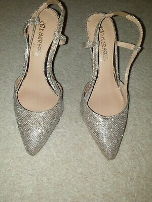 Dune Head Over Heel - Gold Glitter Court Shoes - Size 3/36 - Prom/party/wedding