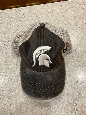 official photos fe758 52aff Michigan State Spartans Top of the World Brown Offroad Adjust Snapback Hat  Cap