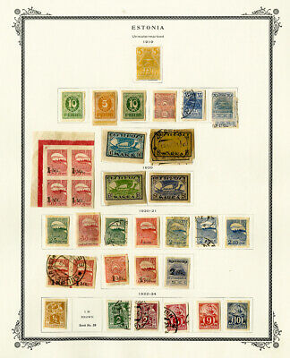 Estonia 1918 to 1941 Popular Hard to Find Mint & Used Collection