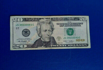20 Dollar Note (2009) (circulated) True Radar Serial # 39033093