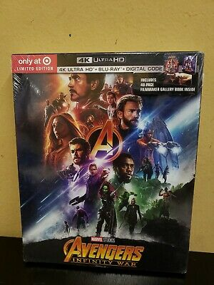 AVENGERS INFINITY WAR Target Exclusive Limited 4K Ultra HD Blu-ray Digital NEW