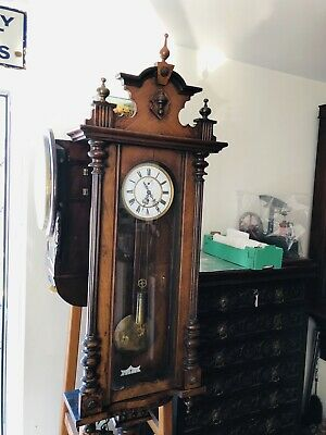 Antique VIENNA REGULATOR  WALL CLOCK.
