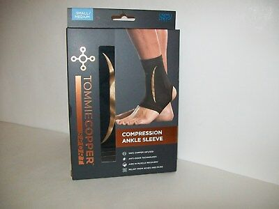 3782bd596d8263 Tommie Copper Sport Men's Recovery Ankle Sleeve Black Small/Medium New