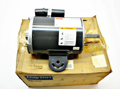 NEW DAYTON 3M505B AC MOTOR 1/2HP 1075RPM/2SPEED 115V 60Hz
