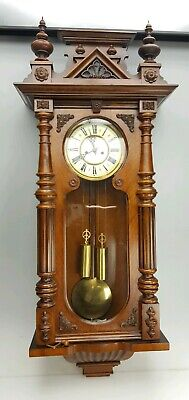 Fab Old & Very Large Impressive Double Weighted Vienna Wall Clock