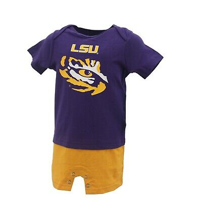 2132efbb LSU TIGERS OFFICIAL NCAA Apparel Baby Infant Size Creeper Bodysuit New with  Tags