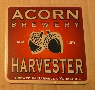 ACORN brewery HARVESTER cask ale beer badge front pump clip Yorkshire