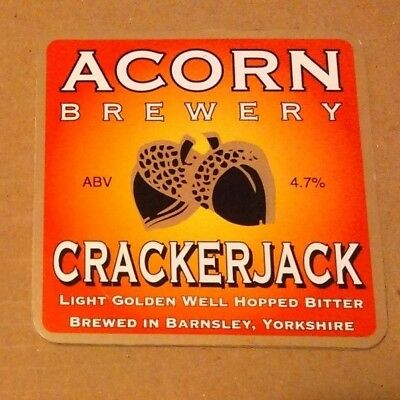 ACORN brewery CRACKERJACK cask ale beer badge front pump clip Yorkshire