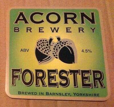 ACORN brewery FORESTER cask ale beer badge front pump clip Yorkshire