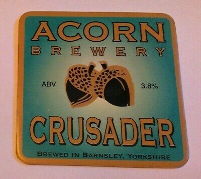 ACORN brewery CRUSADER cask ale beer badge front pump clip yorkshire