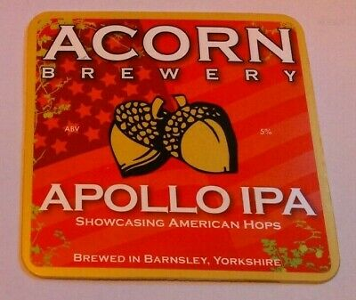 ACORN brewery APOLLO IPA cask ale beer badge front pump clip Yorkshire