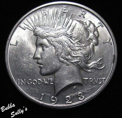 1923 D Peace Silver Dollar    ABOUT UNCIRCULATED