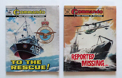 2 x Commando comics #1297 & #1298, 1979. Please see images for condition.