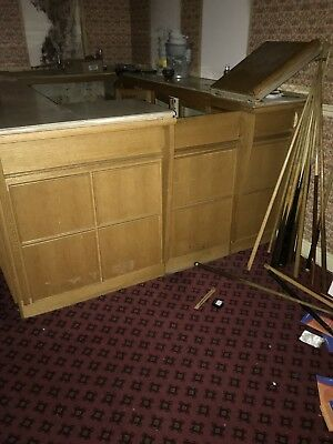 Full Wood Bar With Marble Top