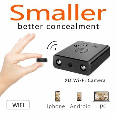 Mini 1080P WiFi Hidden Camera NightVision Motion Detection for iPhone PC Android