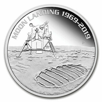2019 Australia 1 oz Silver Anniversary of the Moon Landing Proof - SKU#188405