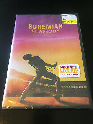 Bohemian Rhapsody DVD with Live Aid performance - brand new shrinkwrapped