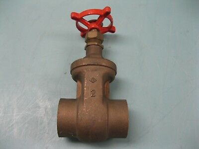 "2"" Stockham 125# SWP Bronze Solder B-104 Gate Valve NEW L18 (2361)"
