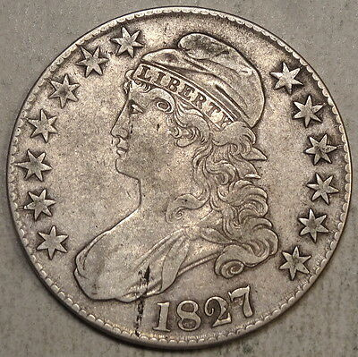 1827 Capped Bust Half Dollar, Choice Very Fine, Original Type Coin    0811-19