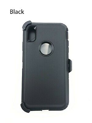 For iPhone 6 6s 7 8 Plus X XR XS Max HeavyDuty Case(Clip fits Otterbox Defender)