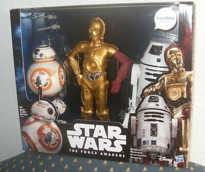 BB-8, C-3PO & RO-4LO STAR WARS FORCE AWAKENS 12-INCH ACTION FIGURE 30 cms RARE