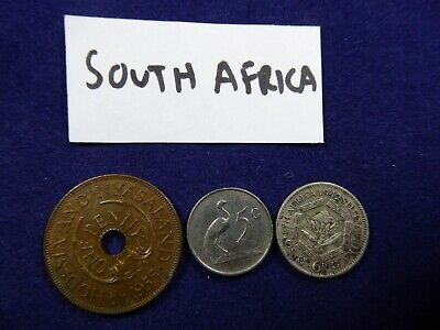 3 x vintage coins - South Africa