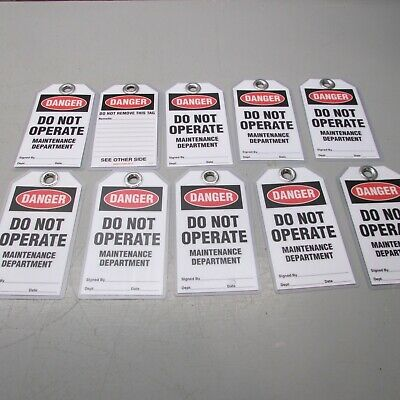 IDESCO T1-71 Danger Do Not Operate Tags Lot of 10!