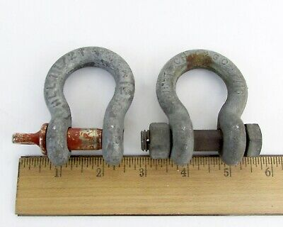 """Lot of 2 10503719 General Dynamics 7//8"""" Anchor Shackle"""