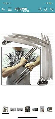 Vulcan Gear Stainless Steel Cosplay Wolverine Claws 1 Pair Two Pieces. (J24)
