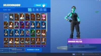 Cuenta Fortnite ghoul trooper+Caballero Negro PS4/PC