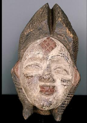 Old Tribal Large  Tribal Punu Maiden Spirit   Mask    --   Gabon BN 42