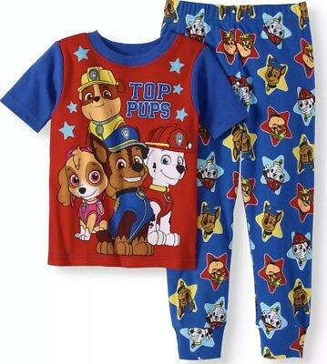 Nwt Toddler Boy Paw Patrol  Pajama Set Size 2T Top Pups
