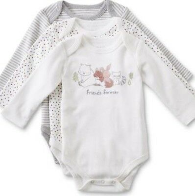 Nwot Lot Of (3) Baby Boy Long Sleeve Bodysuits -Multiple Sizes Available