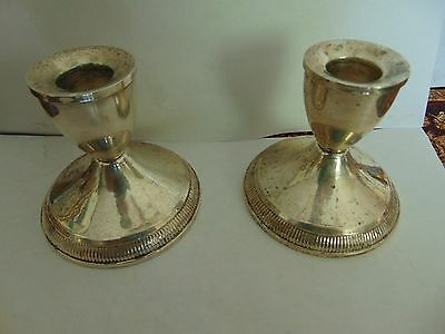 Old Vintage Duchin Creations Sterling Weighted Candle Stick Holders
