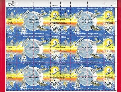 SPACE ACHIEVEMENTS Sheet of 48 Stamps (Scott's # 1912 to 1919) 1981