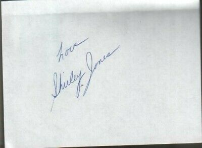 Shirley Jones Autographed Page Shirley Partridge on the Partridge Family